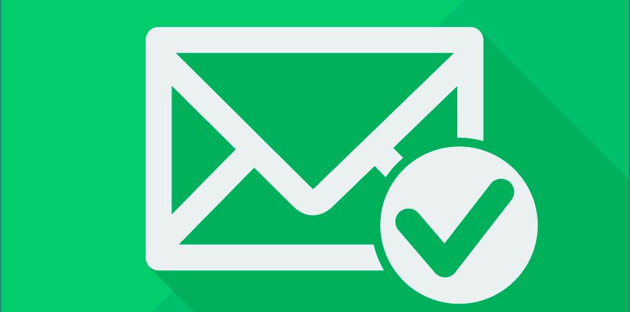 Email bliver verificeret og stemplet